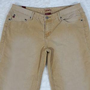 Vanity tan cordouroy bootcut jeans womens 33×30
